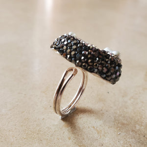 Freshwater Pearl and Marcasite Ring