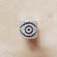 Load image into Gallery viewer, CZ Evil Eye Ring