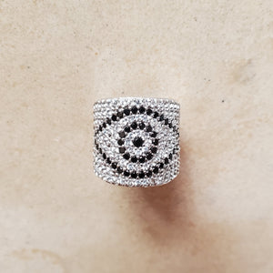 CZ Evil Eye Ring