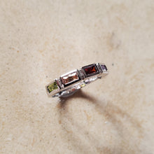 Load image into Gallery viewer, Rectangular Semi Precious Stone Ring