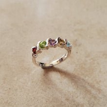 Load image into Gallery viewer, Round Semi Precious Stone Ring