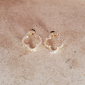 Open Four Leaf Clover Earrings