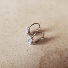 Load image into Gallery viewer, Small CZ Heart Earrings with French Back