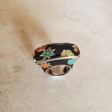 Load image into Gallery viewer, Black Murano Rectangular Ring