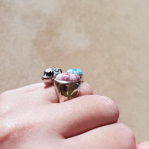Triple Teardrop Murano Ring