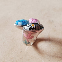 Load image into Gallery viewer, Triple Teardrop Murano Ring