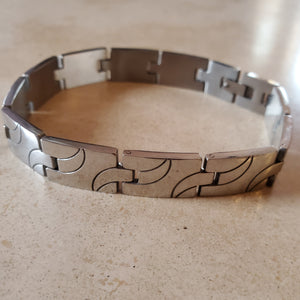 Men's Wide Stainless Steel Bracelet