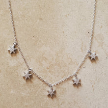 Load image into Gallery viewer, CZ Star Charms Necklace