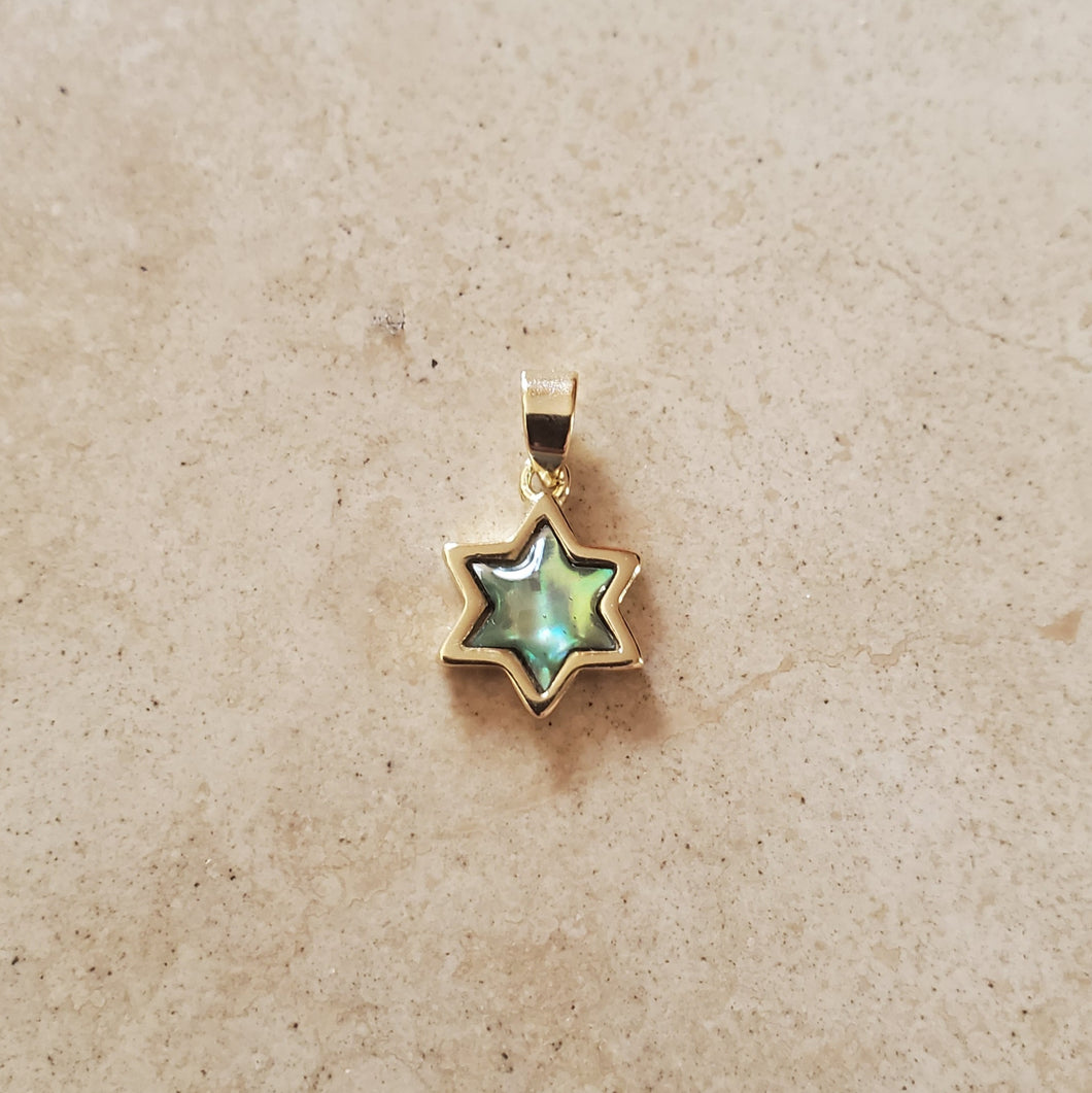 Star of David with Black Mother of Pearl Pendant