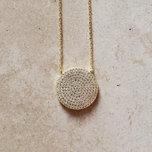 Load image into Gallery viewer, Large CZ Circle Necklace