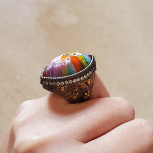 Marquise Murano Glass Ring