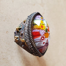Load image into Gallery viewer, Marquise Murano Glass Ring