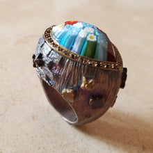 Load image into Gallery viewer, Horizontal Teardrop Murano Glass Ring