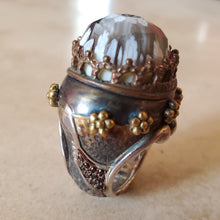 Load image into Gallery viewer, Sky-High Crown Murano Glass Ring