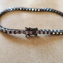 Load image into Gallery viewer, Oxidized Sterling  Tennis Bracelet