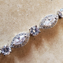 Load image into Gallery viewer, Silver Marquise CZ Tennis Bracelet