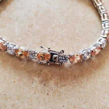 Load image into Gallery viewer, Champagne CZ Tennis Bracelet
