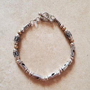 Silver and Gold Filled Bracelet