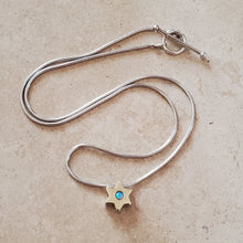 Load image into Gallery viewer, Silver and 14k Gold Star of David Necklace
