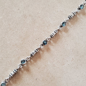 Silver and Blue Topaz Bracelet