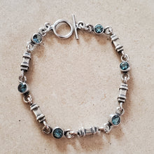 Load image into Gallery viewer, Silver and Blue Topaz Bracelet