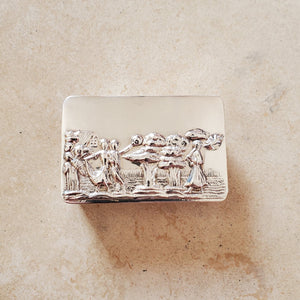 Large Rectangular Silver Pill Box