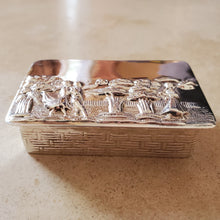 Load image into Gallery viewer, Large Rectangular Silver Pill Box