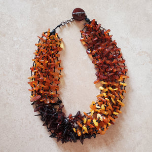 Multi Color Multi Strand Baltic Amber Choker