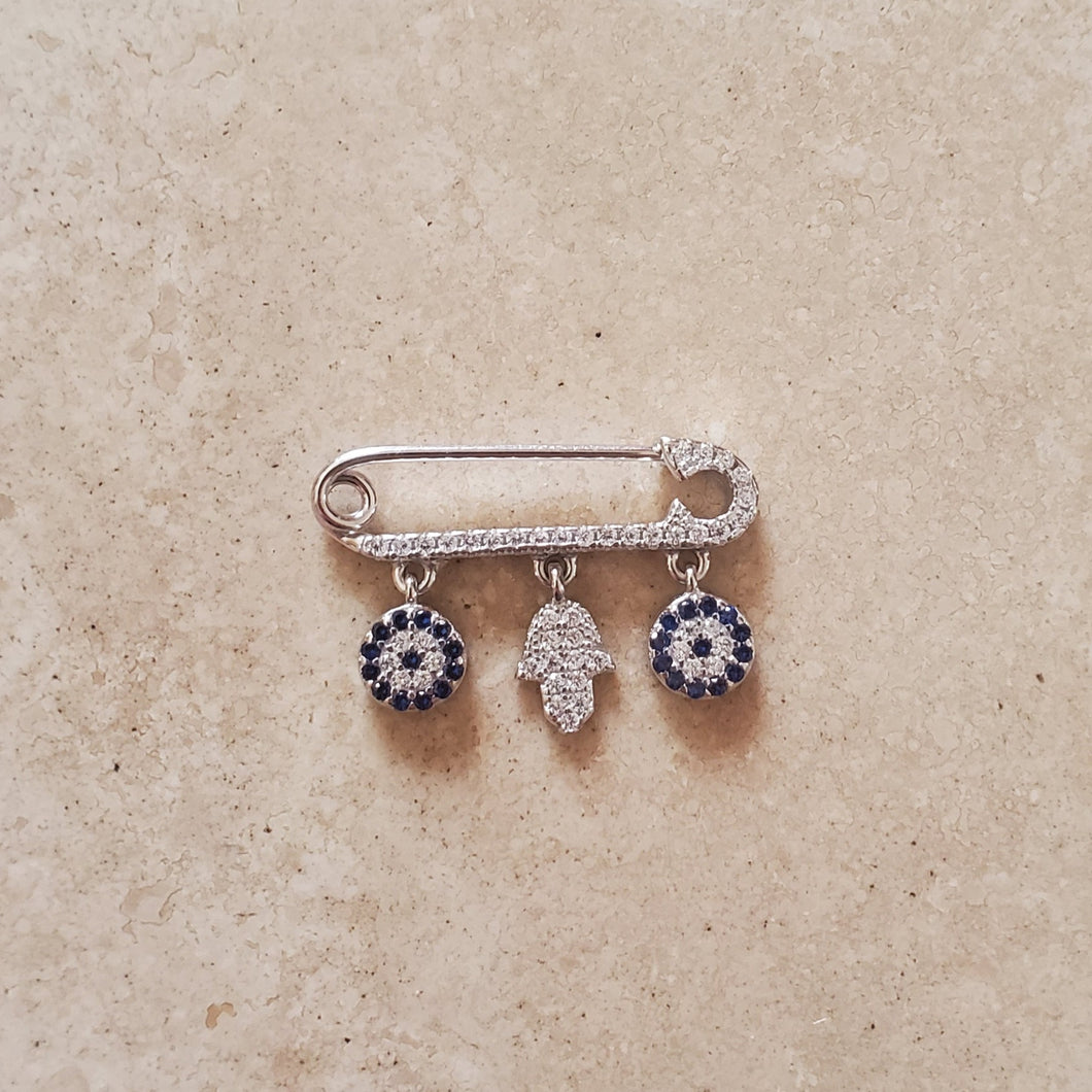 Evil Eye and Hamsa Pin