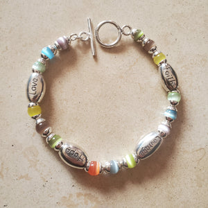 Love, Courage, Hope, and Faith Bracelet