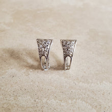 Load image into Gallery viewer, Silver Huggie Earrings with CZs