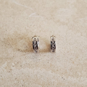 Tiny CZ Huggie Earrings