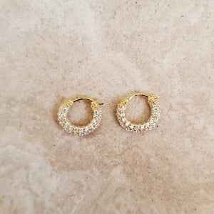 Tiny CZ Hoop Earrings
