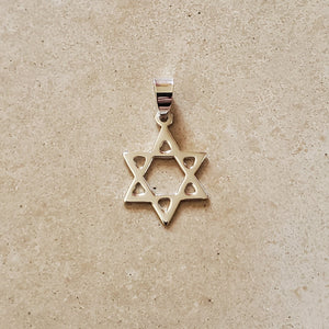 Silver Star of David Pendant