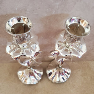 Silver Star of David Candlesticks