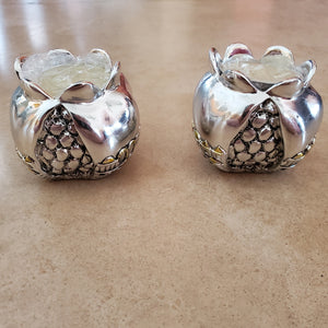 Pomegranate with Jerusalem Scene Candle Holder