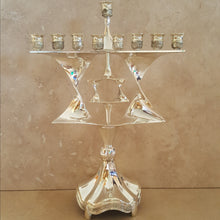 Load image into Gallery viewer, Silver Star of David Menorah