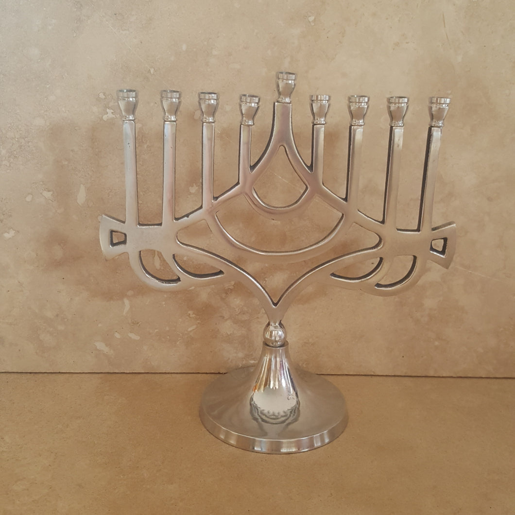 Traditional Silver Menorah