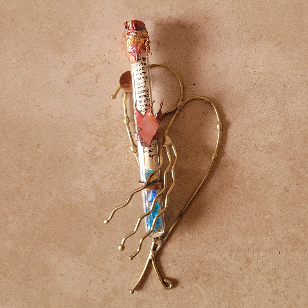 Heart Wedding Mezuzah