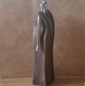 Stone and Pewter Sculpture