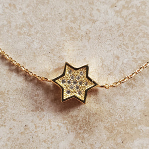 Gold Vermeil Star of David Bracelet