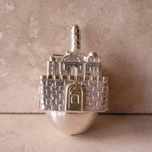 Load image into Gallery viewer, Silver Jerusalem Dreidel