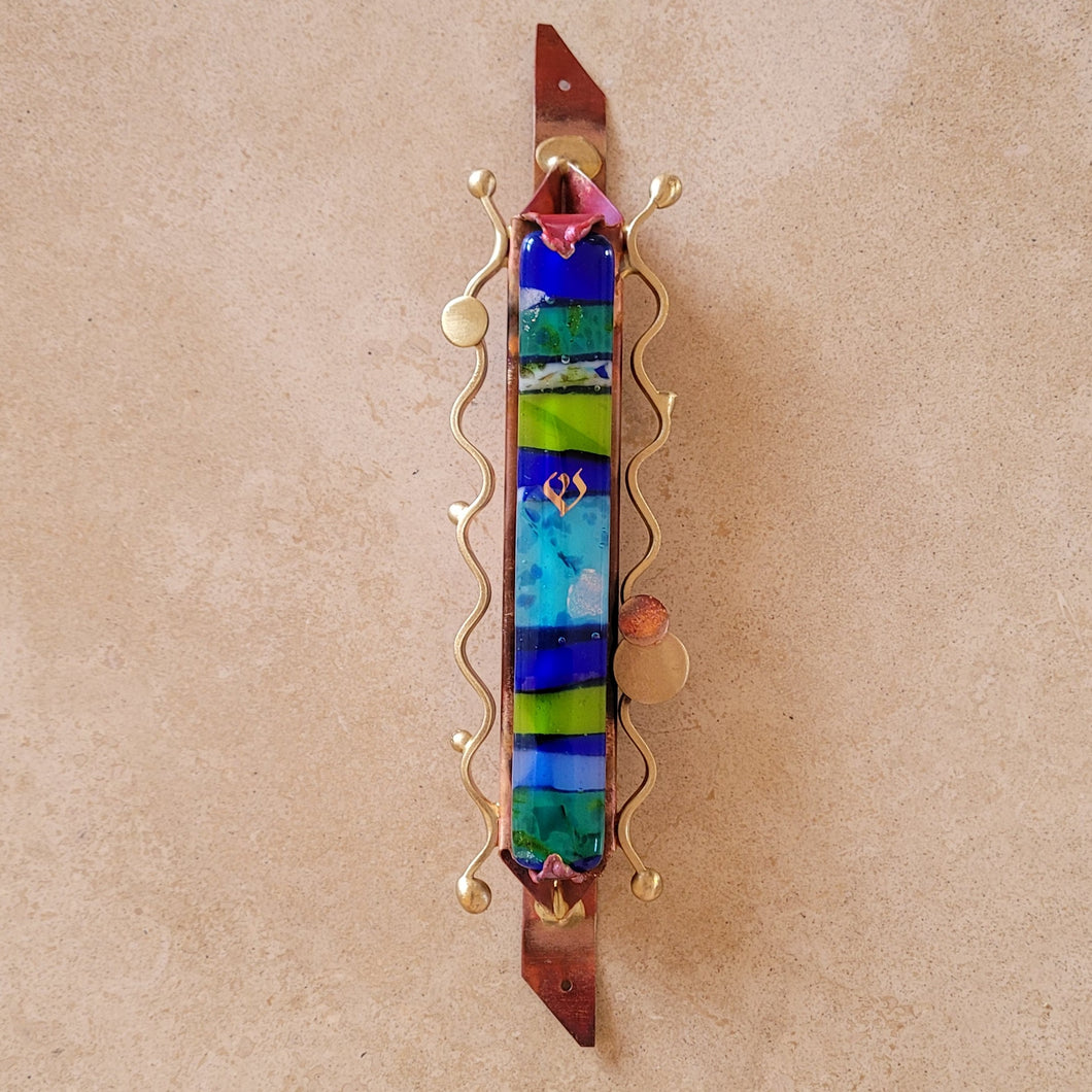 Handmade Fused Glass Mezuzah