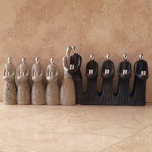 Load image into Gallery viewer, Stone and Pewter Menorah