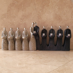 Stone and Pewter Menorah