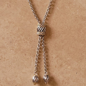 Sterling Silver Lariat Style Necklace