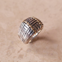 Load image into Gallery viewer, Sterling Silver with 14k Twisted Gold