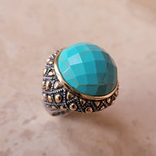 Load image into Gallery viewer, Round Turquoise Ring