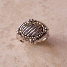 Load image into Gallery viewer, Sterling Silver and 14k Gold Oval Ring
