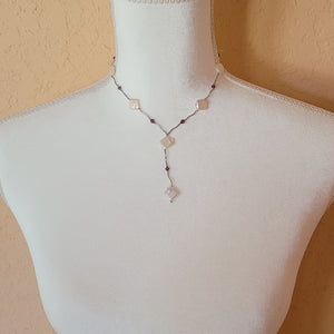Freshwater Pearls and Silver Necklace